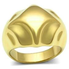 Yellow Gold Plated Band Costume Rings Sizableless