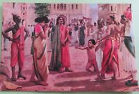 Vintage Rama Varma harishchandra in Distress story telling picture postcard