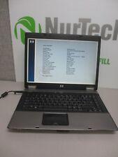 "HP Compaq 6730b 15.4"" C2D P8600 2.4GHz 4GB NO HDD WiFi DVD/RW Laptop NO BATTERY"