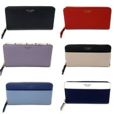 Kate Spade Cameron continental Leather ZIP AROUND cartera grande (Seleccione Estilo)