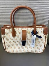 NWT Dooney & Bourke Signature DB Small Double Handle Tote w/Shoulder Strap #SV51