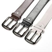 1pc flossy hommes Cozy Metal boucle robe Casual ceintures en cuir fau FR