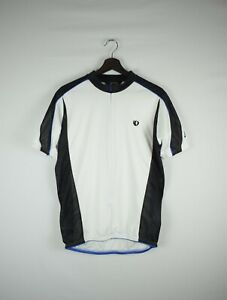 PEARL IZUMI 3/4 Zip White Short Sleeve Cycling Jersey Pockets Vented Mesh Size L