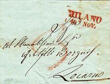 251-LOMBARDO VENETO, PREF., DA MILANO A LOCARNO ( SVIZZERA), 1848