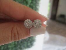 .50 CTW Diamond Earrings 18k White Gold Ex82 sep