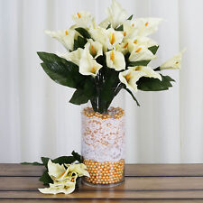 84 Ivory Calla Lilies Silk Flowers Wedding Party Centerpieces Bouquets on Sale
