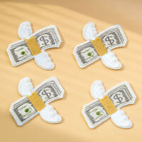 4pcs Fly Wing Money Embroidered Applique Badge Collar Iron On Sew On Patch Craft