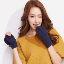 Hot Fashion Women Cute Winter Handwarmer Fingerless Mittens Cashmere Gloves