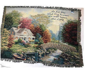 Religious Lord Throw Blanket Manual Woodworkers And Weavers Fringe Tapestry