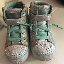 Sketchers Twinkle Toes Sneakers Toddler Girls  High Tops Size 9