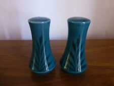 Green Glazed salt & pepper Shakers with leafs design