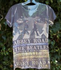 Women's The Beatles Abbey Road Shirt T-Shirt Top Band Music LARGE 11/13 Juniors