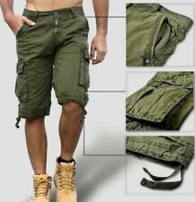 Summer Men cotton Loose Overalls Cargo Shorts Army Casual Outdoor Military Pants