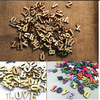 100X Letters Wooden Alphabet Embellishment Scrapbooking Cardmaking Craft Kn