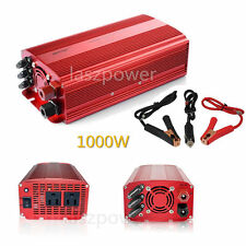 BESTEK 1000W Car Power Inverter DC 12V to AC 110V Adapter Charger Dual AC Outlet