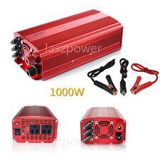 BESTEK 1000W Car Power Inverter DC 12V to AC 110V Adapter Charger Dual AC Outlet