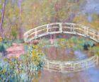 Claude Monet Bridge In Monet's Garden Fine Art Print on Canvas Reproduction 8x10