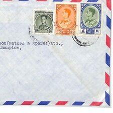 CF185 Thailand Cover 1960s Registered Air Mail 5.90b Hants