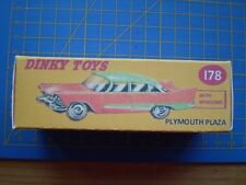Dinky toy repro box uniquement pour Nº 178 PLYMOUTH PLAZA