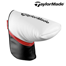 TAYLORMADE PUTTER COVER GOLF PUTTER HEADCOVER BLADE HEAD COVER WHITE NEW 2015
