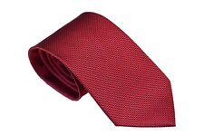 Men's dark red   geometric pattern  woven tie