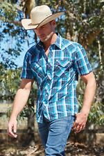 New Mens Wrangler Hedland Western Competition Campdrafting Performance Shirt