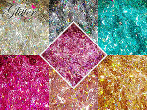 HOLOGRAPHIC RAINBOW TINSEL FOR NAIL ART
