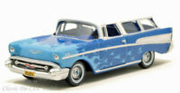 1957 Chevrolet Nomad Blue Hot Rod w/Flames HO 1/87 Scale Oxford 87CN57005