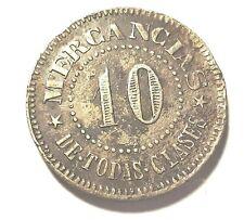 10 Centavos Central MANUEL CORTADA PONCE PUERTO RICO 1890 s Almud HACIENDA Cafe