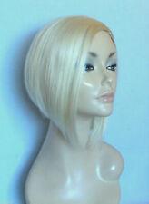 Perruque blond platine carré plongeant sans frange  top qualité + filet
