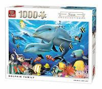 1000 Pièce King Mer Collection Puzzle - Dauphin Famille Aquarium Poisson 5845