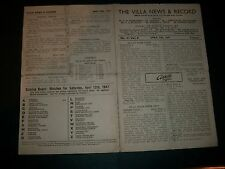 Aston Villa V Grimsby Town LEAGUE 12th APRILE 1946/47