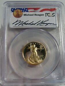 Deep Cameo Proof 1997-W $10 Gold ¼ oz Eagle PCGS PR69 DCAM Reagan Legacy Series.