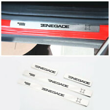For Jeep Renegade 2015-2018 Stainless steel Door sills Guards Plates 4 pcs/Black