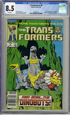 Transformers #8 CGC 8.5 White Pages Newstand - 1st App Dinobots