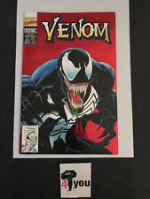 7.0 FN/VF VERY FINE VENOM  # 1 FRENCH EURO VARIANT RED METALLIC OWP YOP 1993