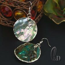 AU SELLER Chic Handmade Mother Of Pearl Silver Earrings 05047