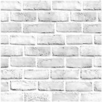Vintage 3D Peel and Stick Wallpaper Faux Brick White Self Adhesive Contact Paper