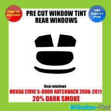 Honda Civic 5-door 2006-2011 20 Dark Rear Pre Cut Window Tint