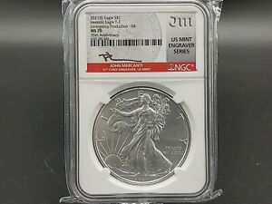 2021(S) SILVER EAGLE NGC MS70 Mercanti Signed Emergency Production ER