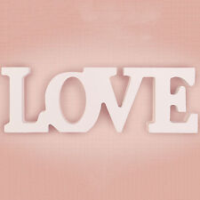 White Wooden Standing Love Letters Sign Plaque Decoration 30cm Across