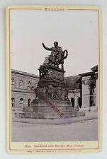 PHOTO ROMMLER JONAS 1888 MUNCHEN ALLEMAGNE STATUE MAX JOSEPH MUNICH N315