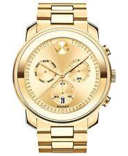 NEW Movado Men's Swiss BOLD Gold-Tone Stainless Steel Bracelet Watch 3600485