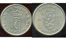NORVEGE  50 ore 1953