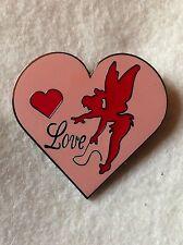 Disney Fantasy TINKER BELL Pink Love Heart LE100 Pin