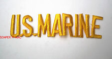 US MARINES SCRIPT NAME TAG COLLECTOR PATCH MAR DIV MAW FMF MCB MCAS MCRD CUT OUT