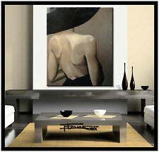 Abstract Painting Canvas Wall Art, Large, Framed, Signed, ELOISExxx