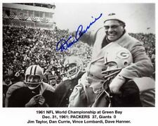 1961 GREEN BAY PACKERS NFL CHAMPIONS DAN CURRIE AUTO JIM TAYLOR 8X10 PHOTO RP