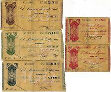 España - Billetes República Española- Año: 1936 - numero 00390/94 - BC Banco de