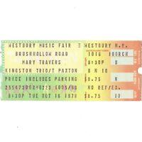 MARY TRAVERS KINGSTON TRIO TOM PAXTON Concert Ticket Stub 10/16/79 WESTBURY NY